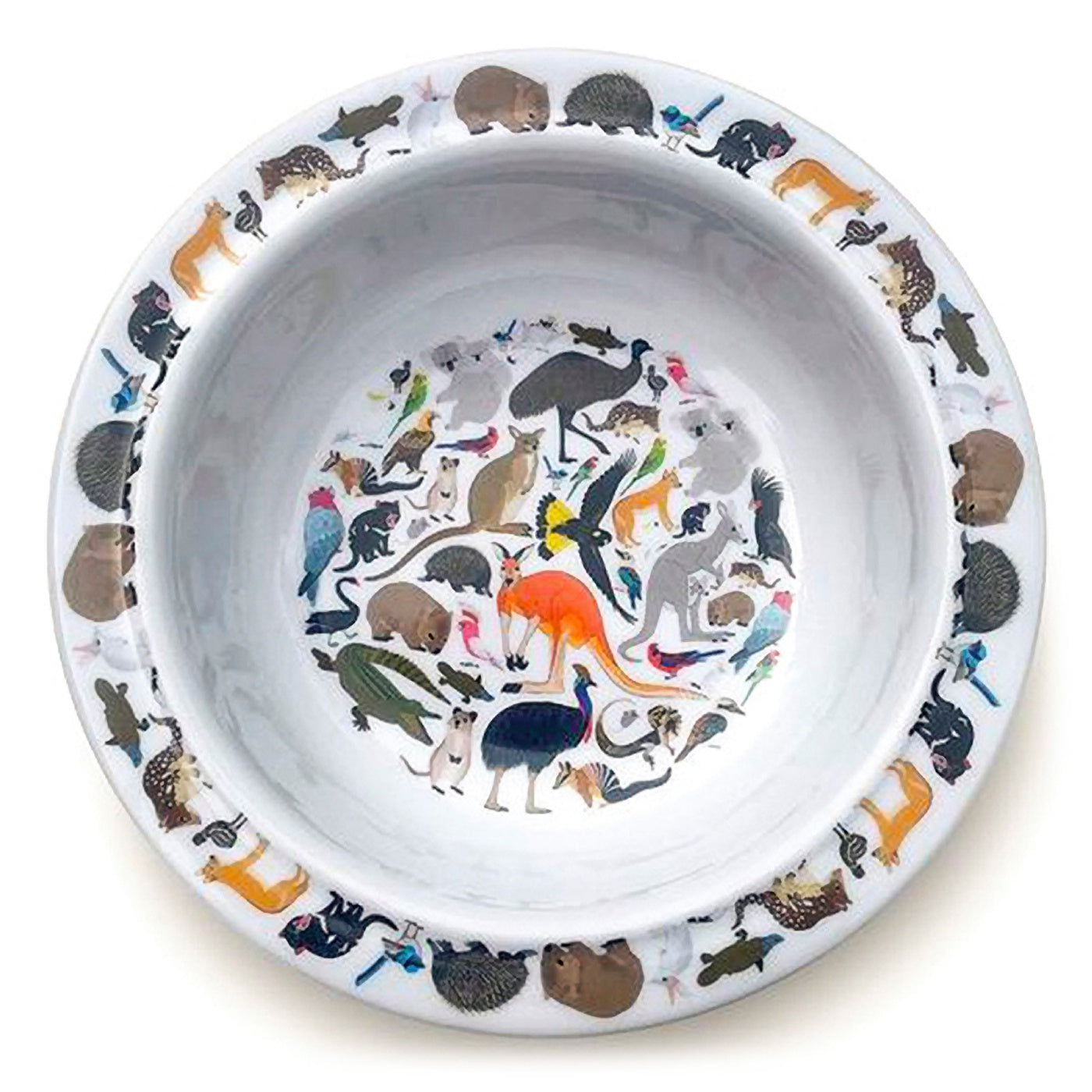 Red Parka - Melamine Bowl - Australian Animals