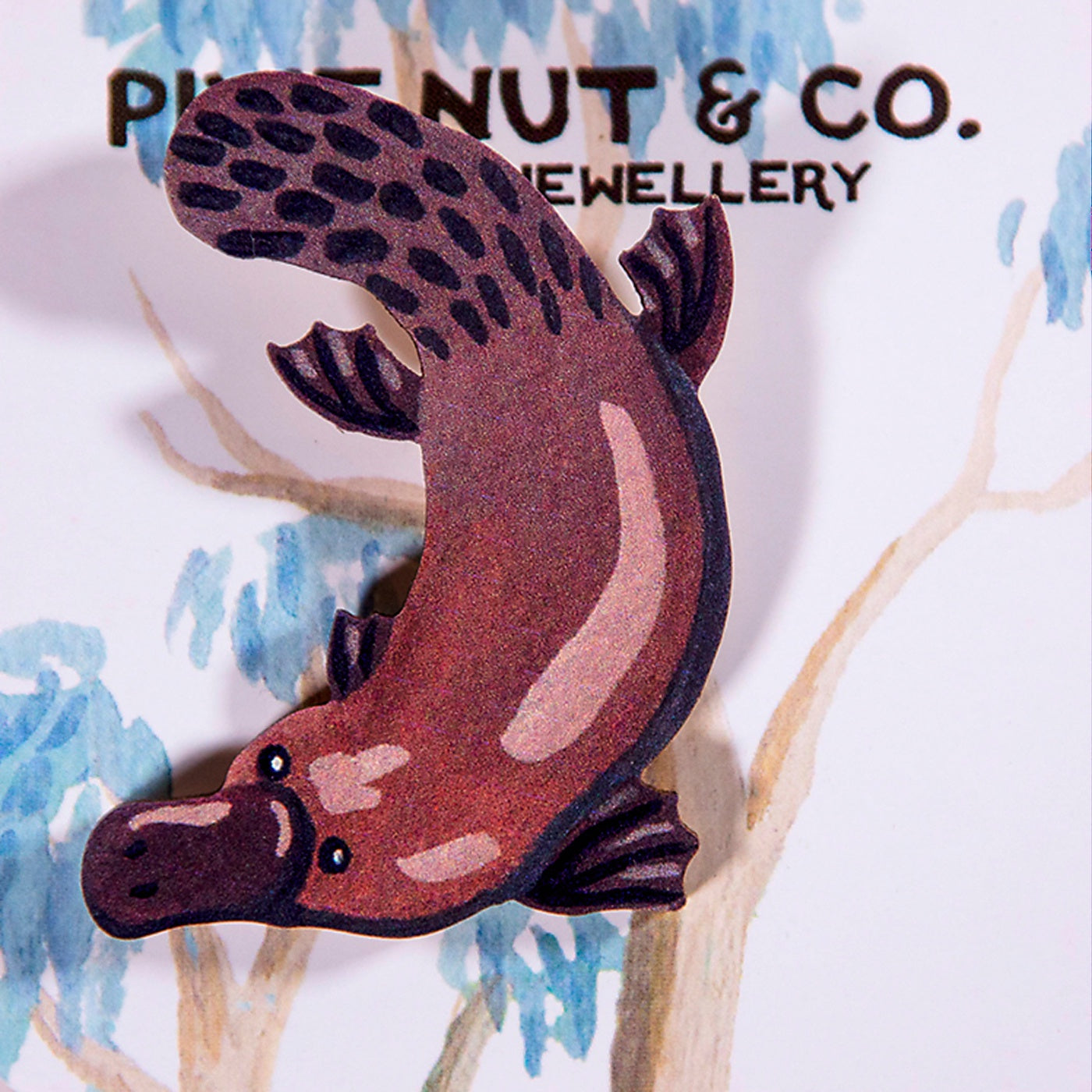 Pixie Nut & Co - Brooch - Platypus