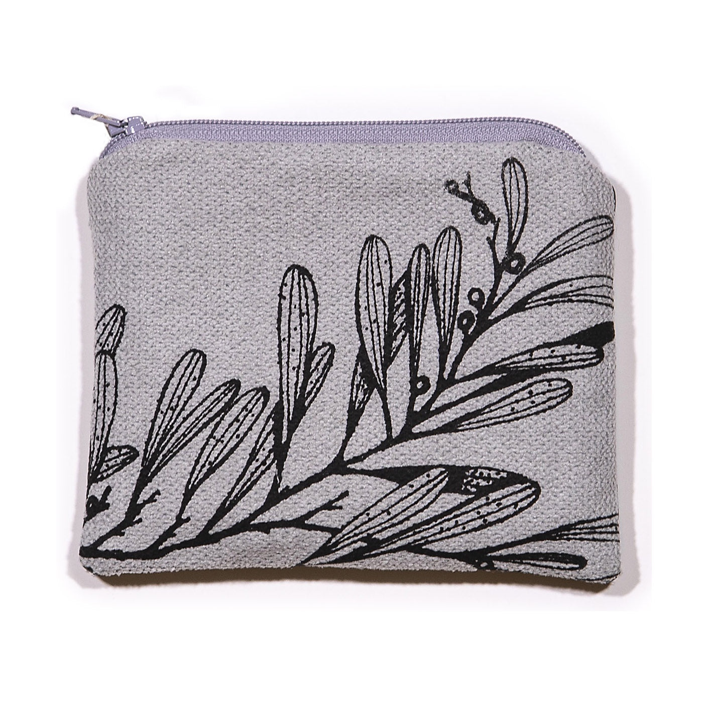 Stalley Textile Co - Zip Purse - Small - Blackwood - Black on Light Grey