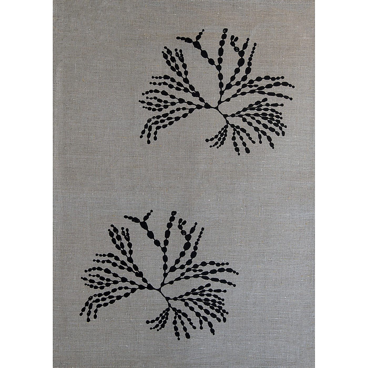 Stalley Textile Co. - Tea Towel - Bubbleweed - Black on Flax