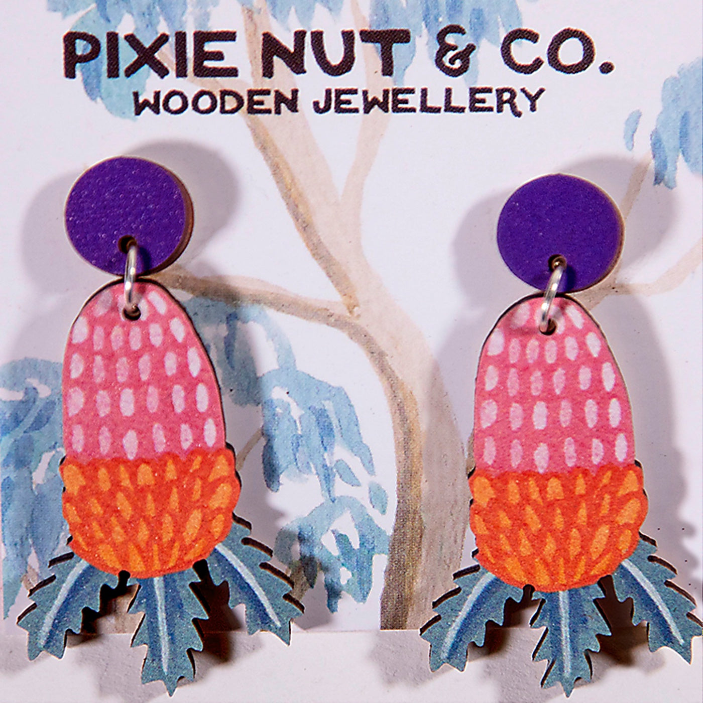 Pixie Nut & Co - Earrings - Banksia
