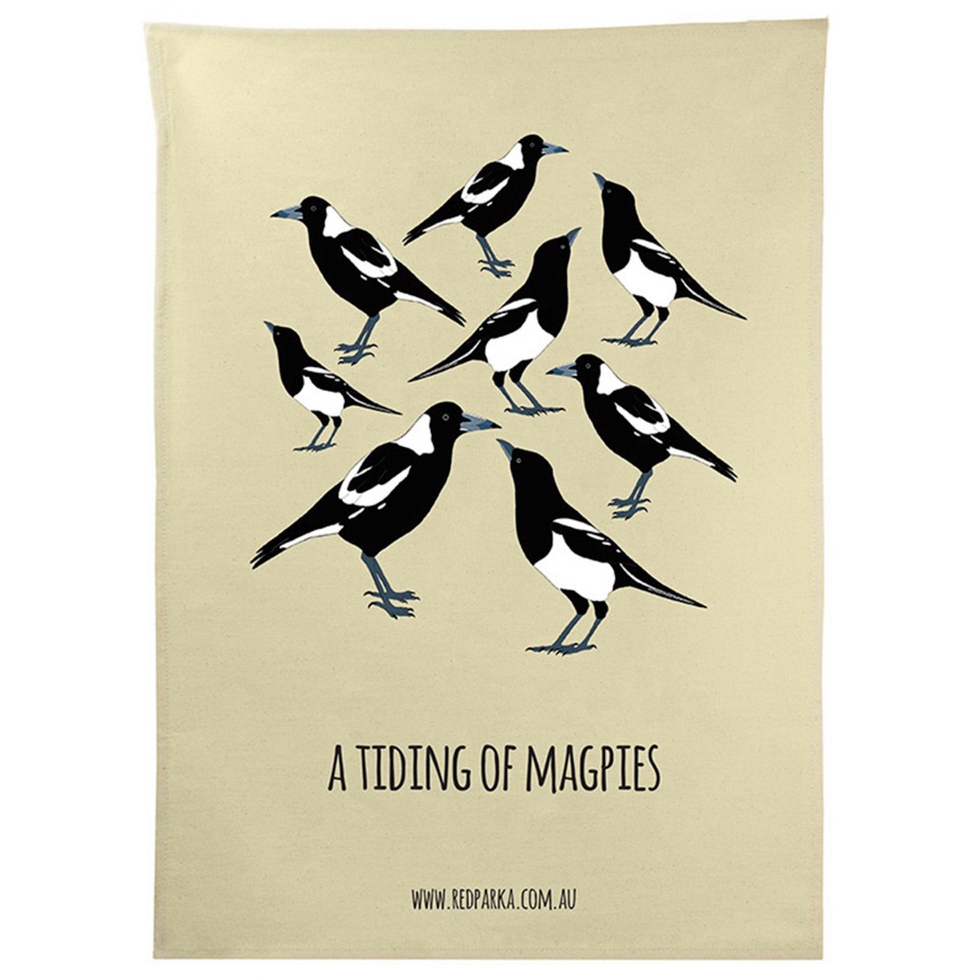 Red Parka - Tea Towel - Tiding of Magpies