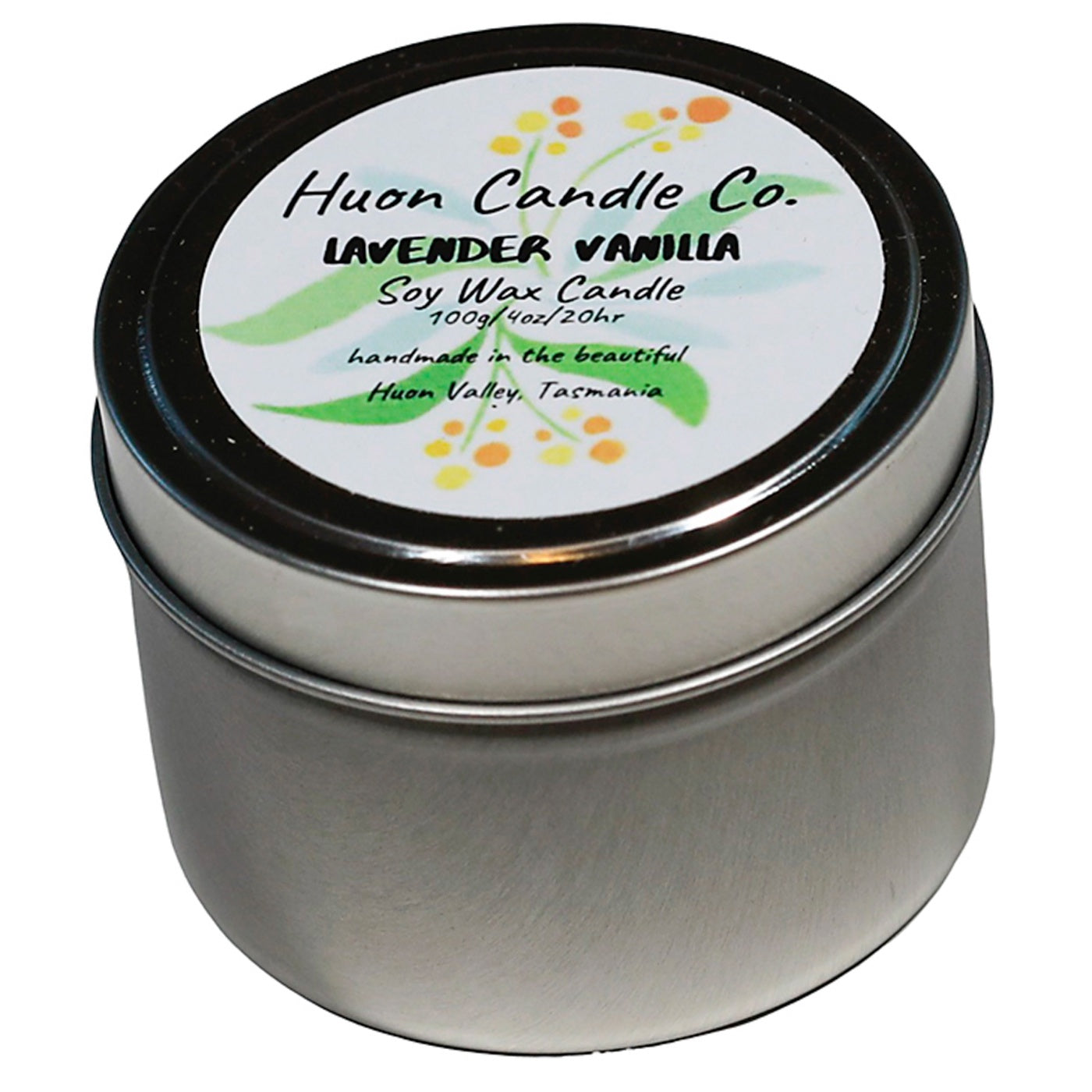 Huon Candle Co - Travel Tin Candle - Lavender Vanilla