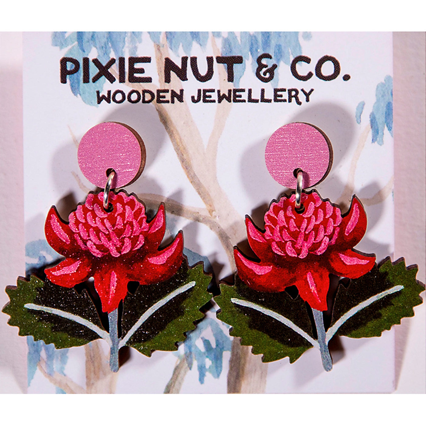 Pixie Nut & Co - Earrings - Waratah