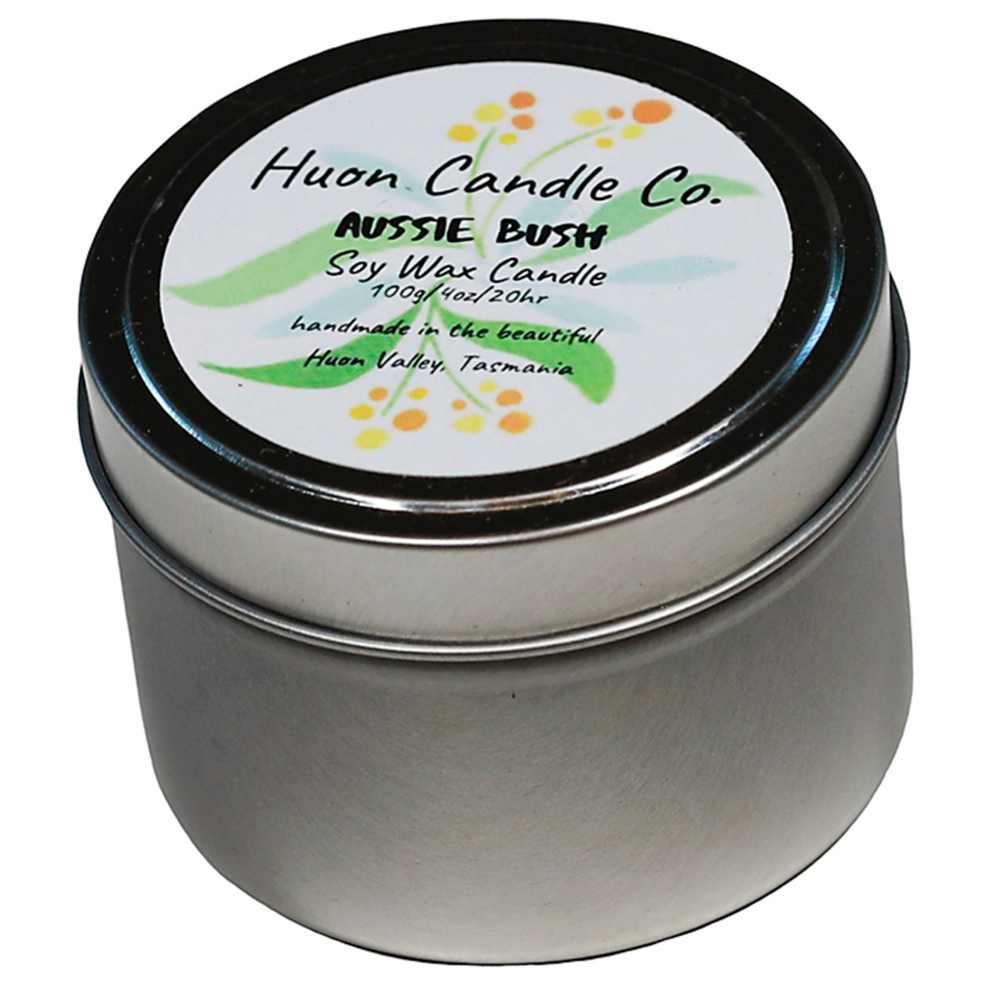 Huon Candle Co - Travel Tin Candle - Aussie Bush