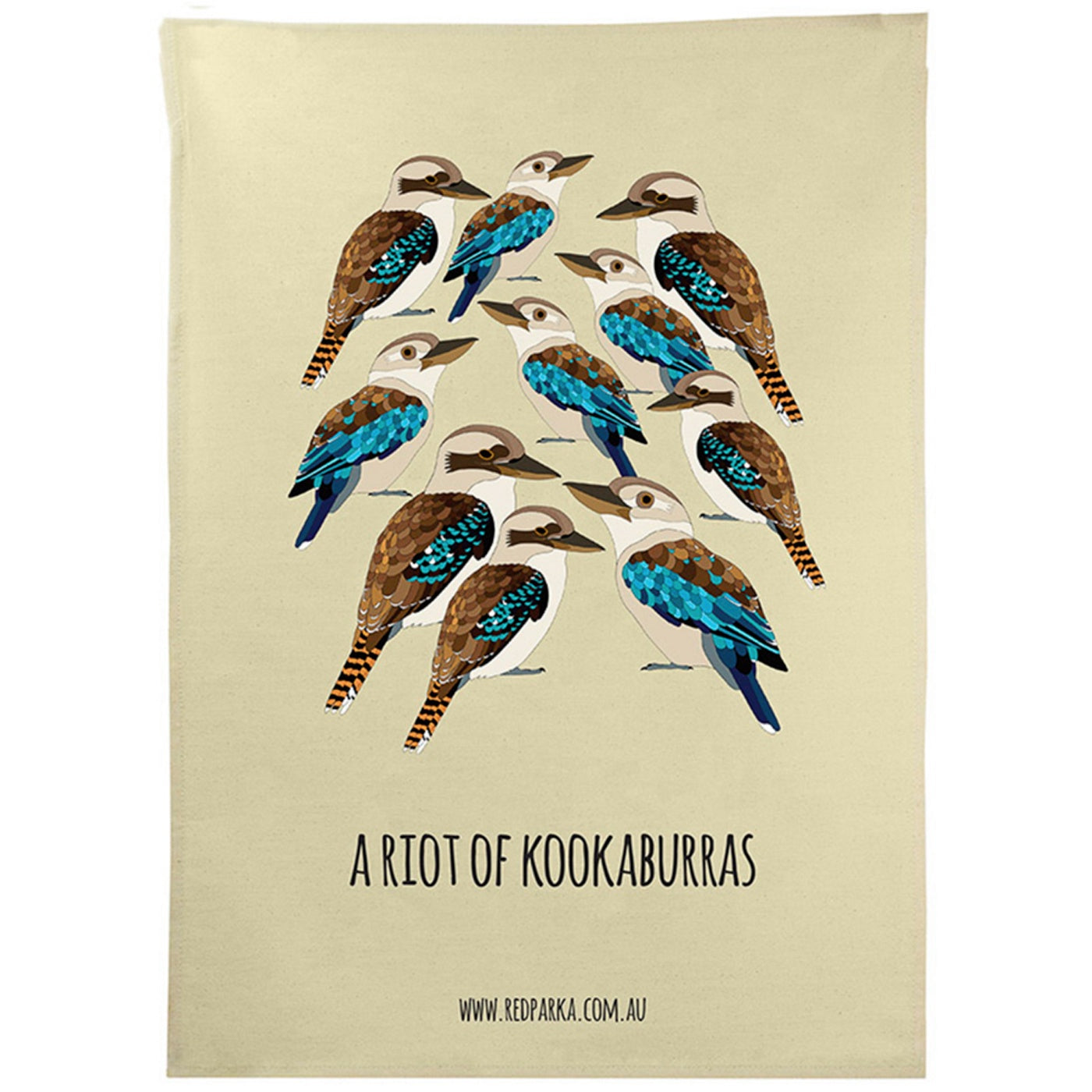 Red Parka - Tea Towel - Riot of Kookaburras