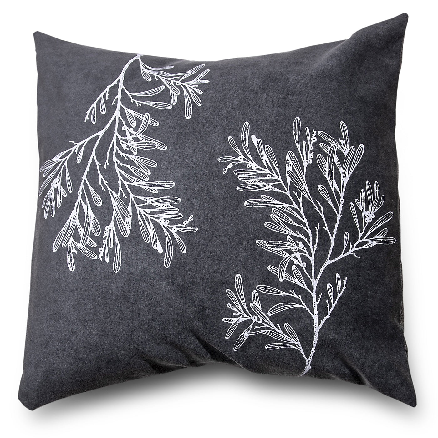 Stalley Textile Co. - Cushion Cover - Blackwood - White on Charcoal