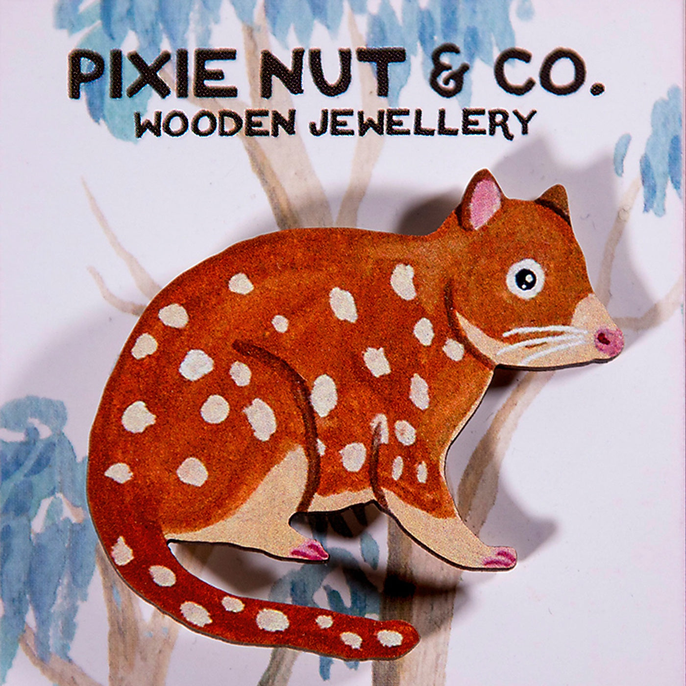 Pixie Nut & Co - Brooch - Quoll