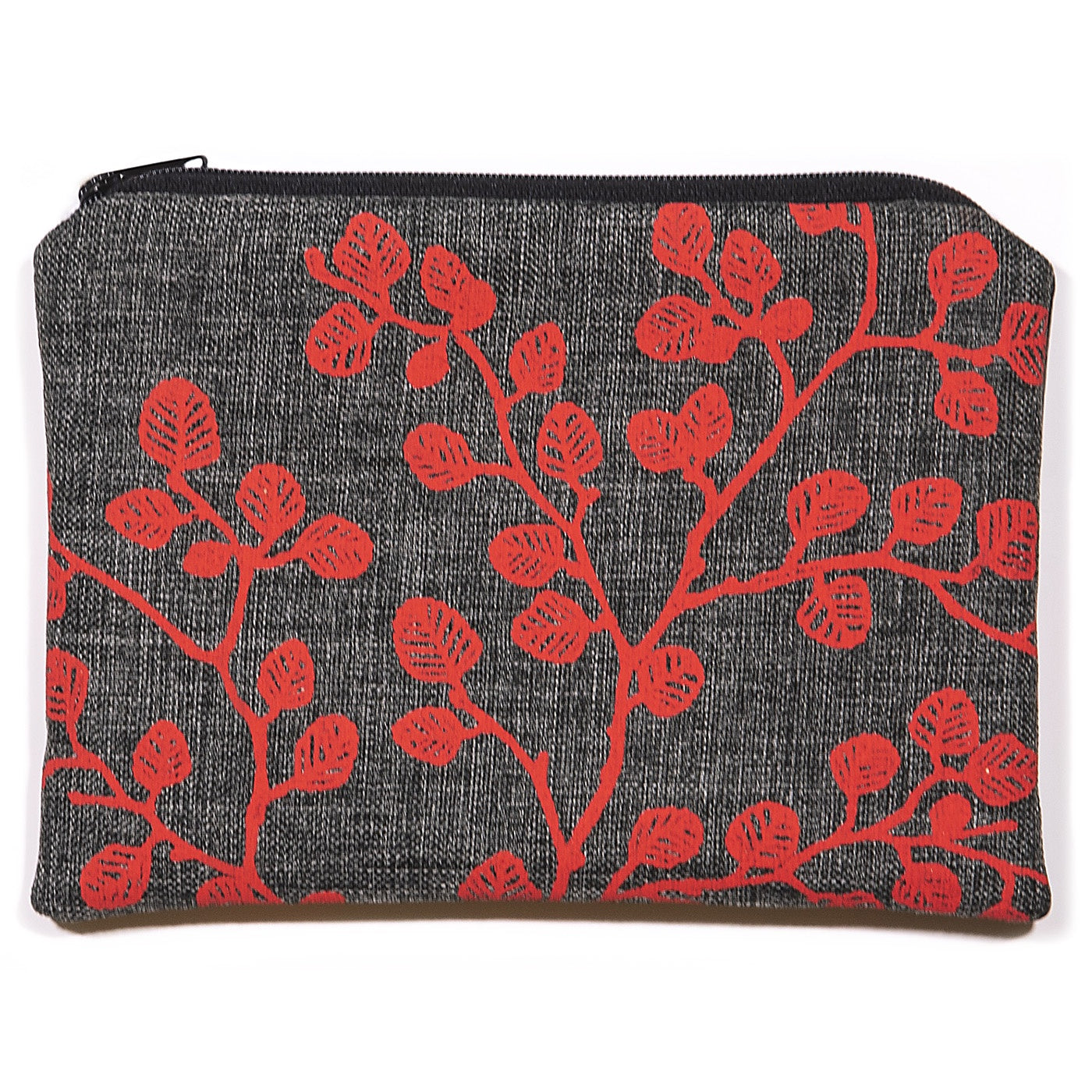Stalley Textile Co - Zip Purse - Large - Fagus - Red on Charcoal