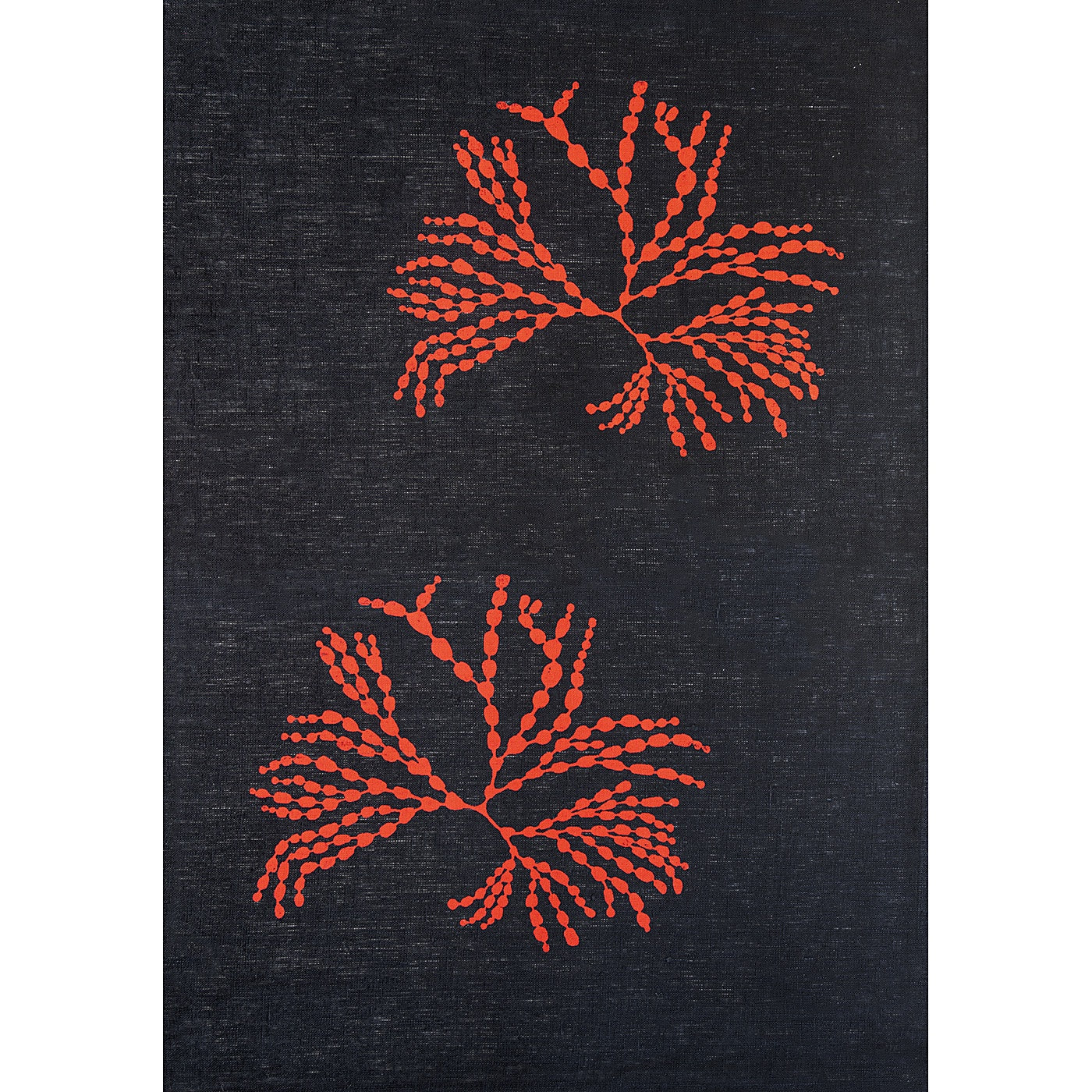 Stalley Textile Co. - Tea Towel - Bubbleweed - Red on Black