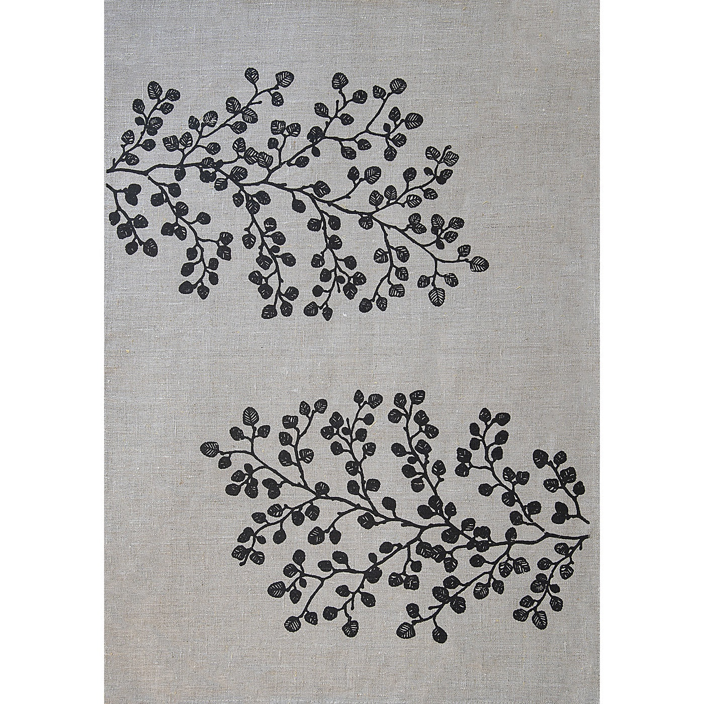 Stalley Textile Co. - Tea Towel - Fagus - Black on Flax