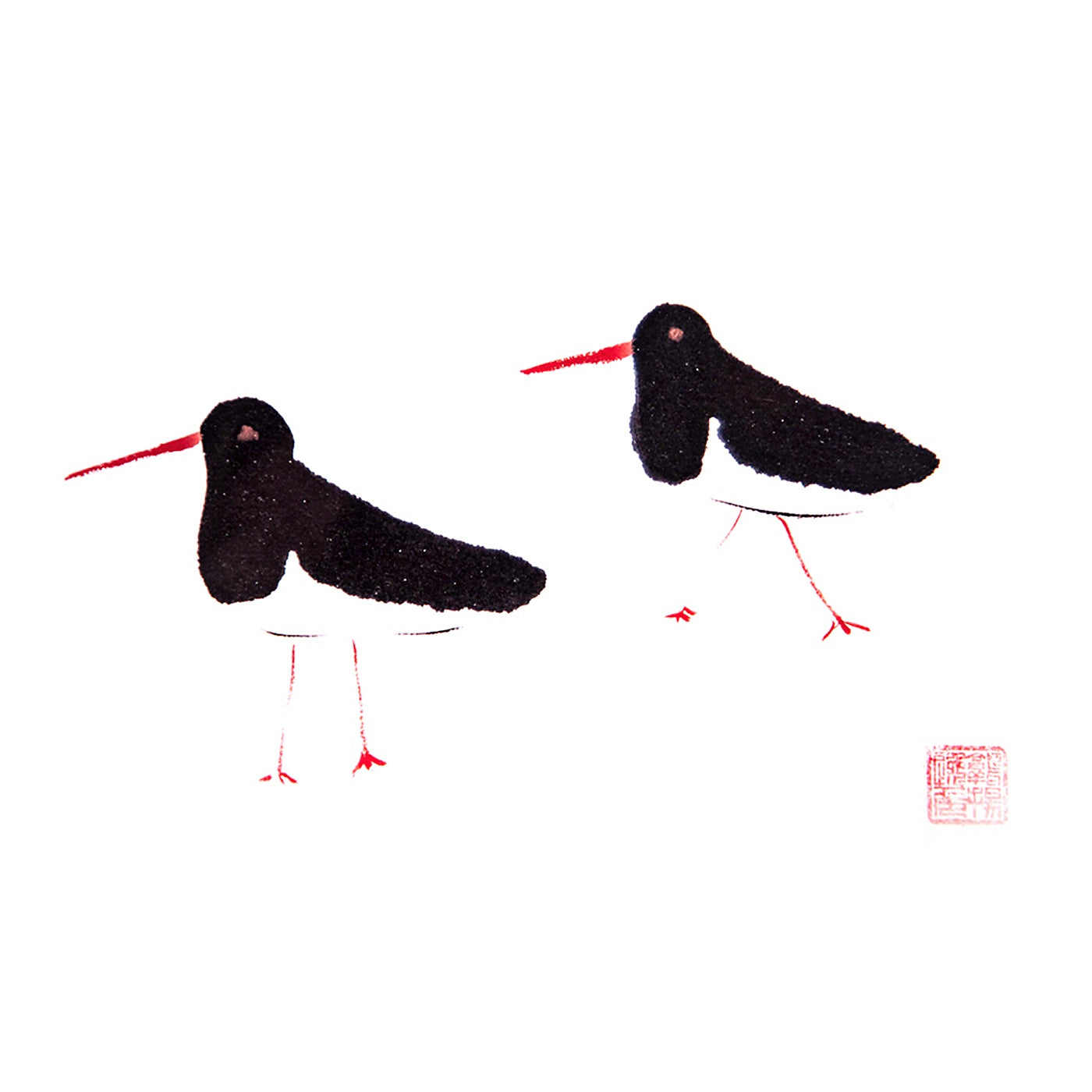 Artcards.Ink - Art Print - Oyster Catchers