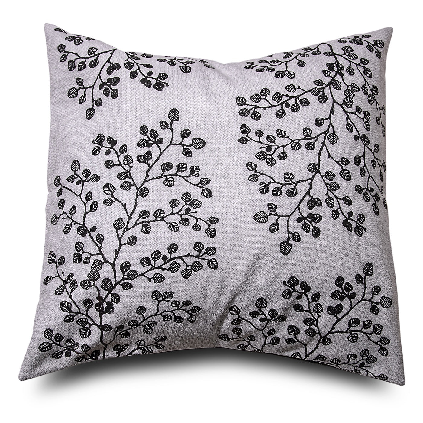 Stalley Textile Co. - Cushion Cover - Fagus - Black on Light Grey