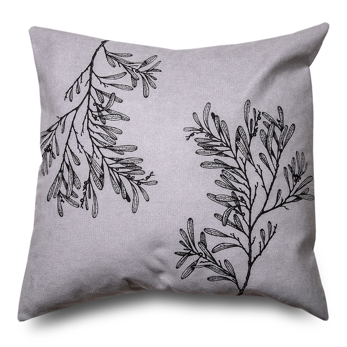 Stalley Textile Co. - Cushion Cover - Blackwood - Black on Light Grey