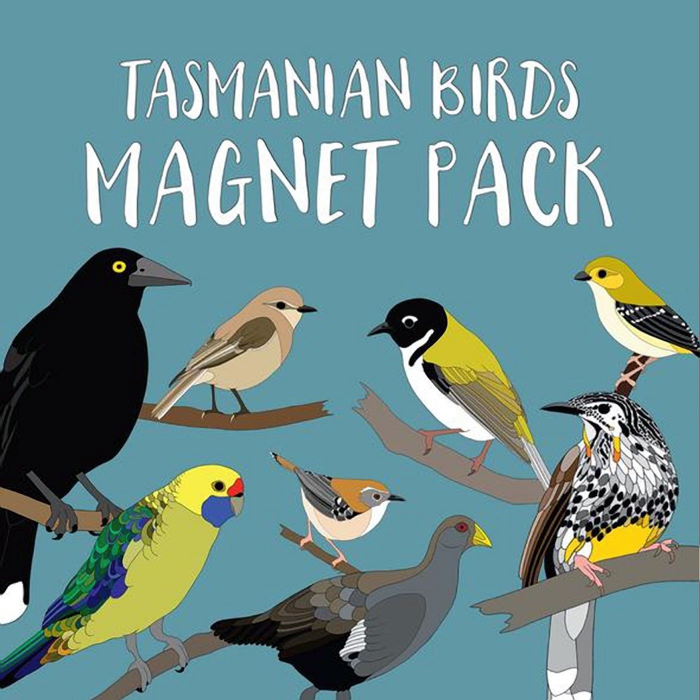 Red Parka – Magnet Pack – Endemic Tasmanian Birds