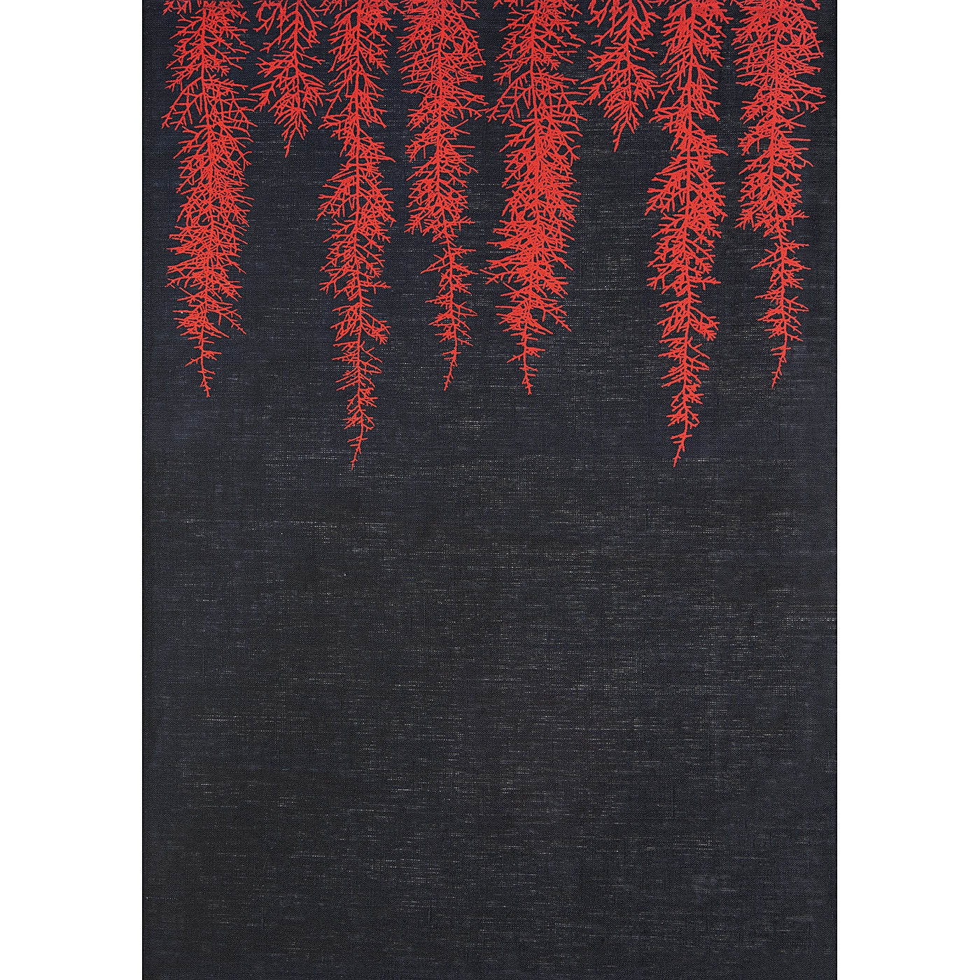 Stalley Textile Co. - Tea Towel - Huon Pine - Red on Black