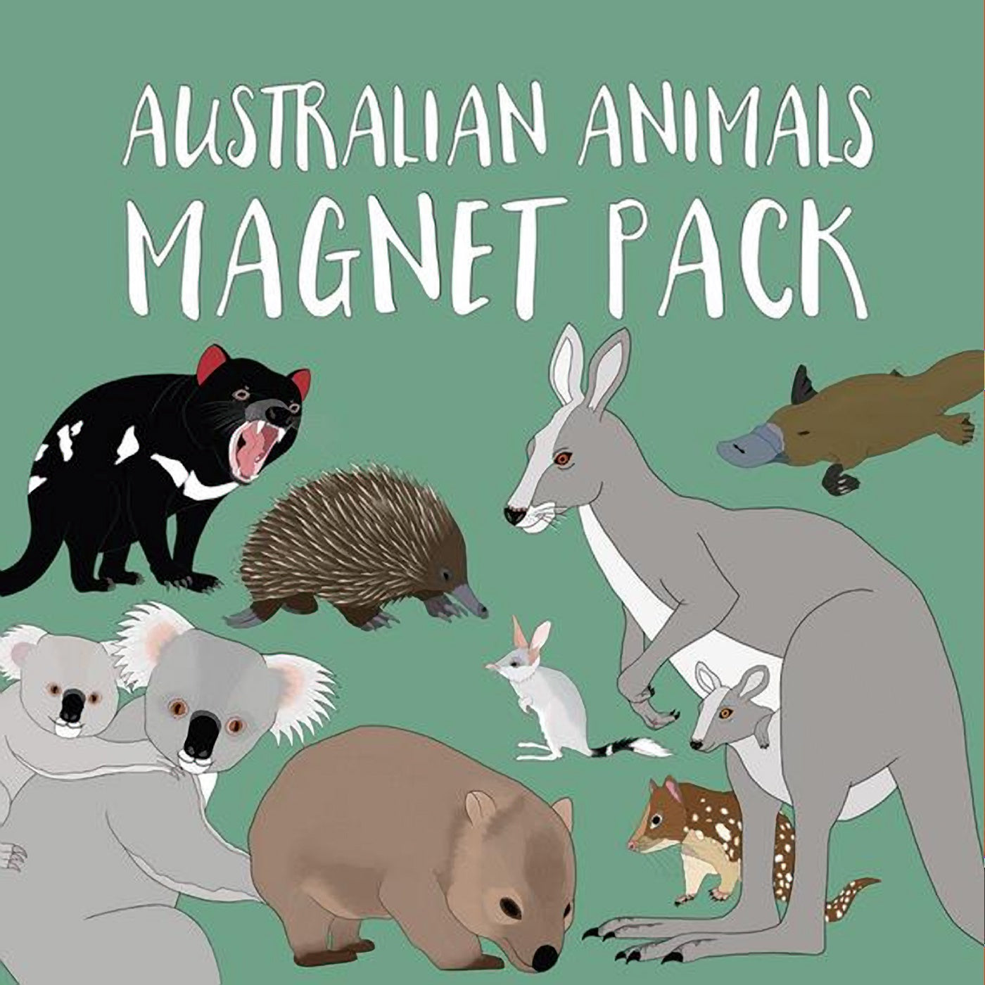 Red Parka - Magnet Pack - Australian Animals