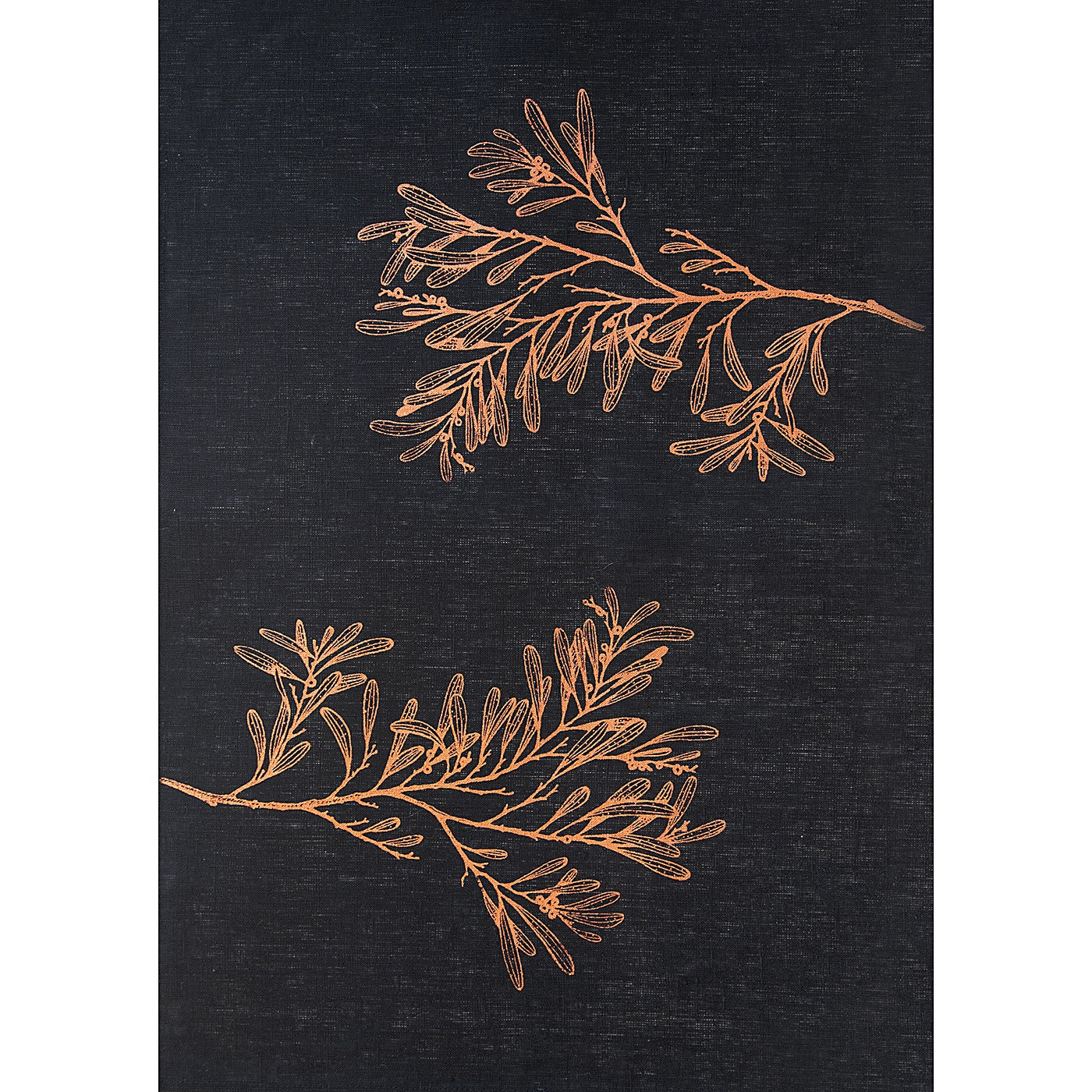 Stalley Textile Co. - Tea Towel - Blackwood - Copper on Black