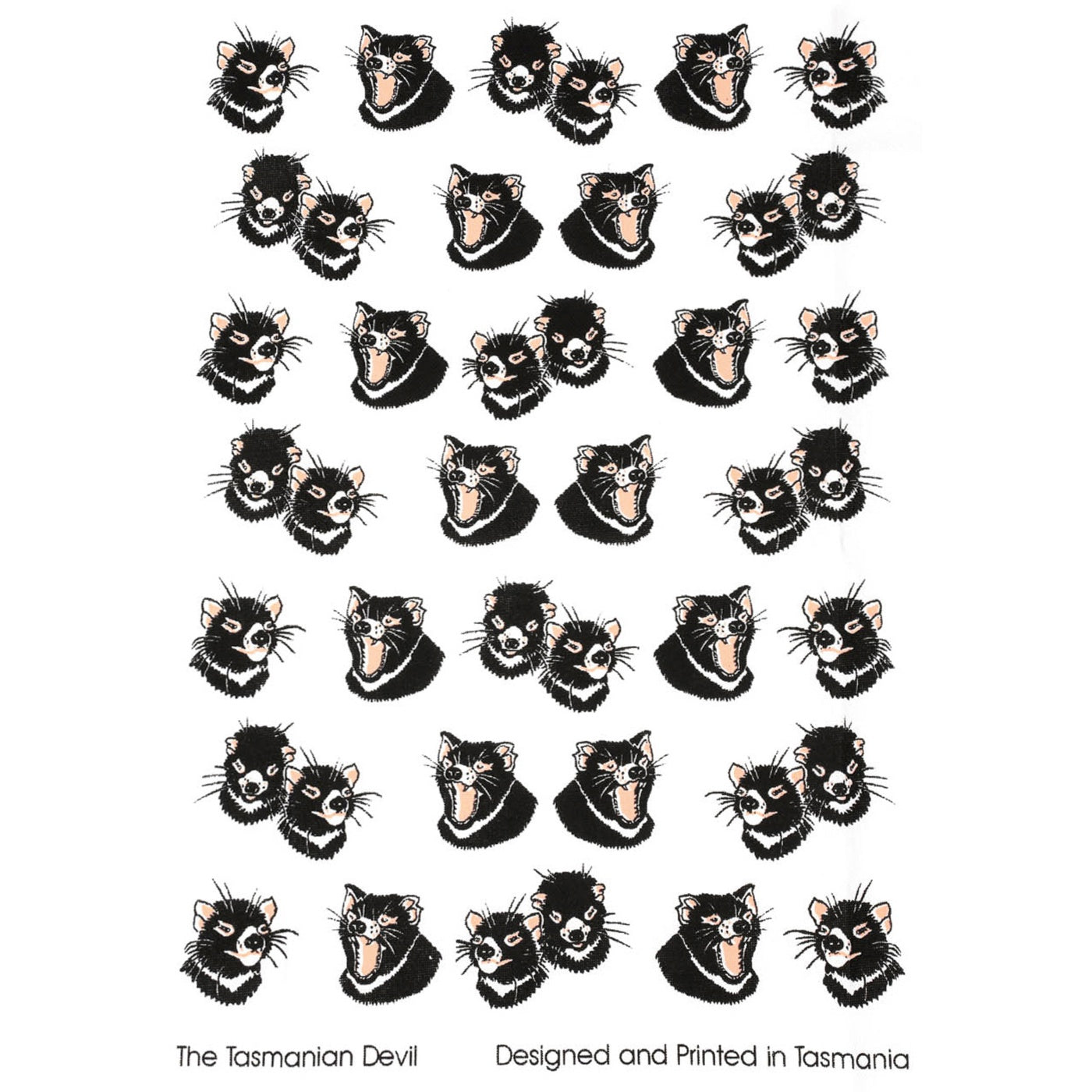The T-Towel Gallery - Tea Towel - Tasmanian Devil