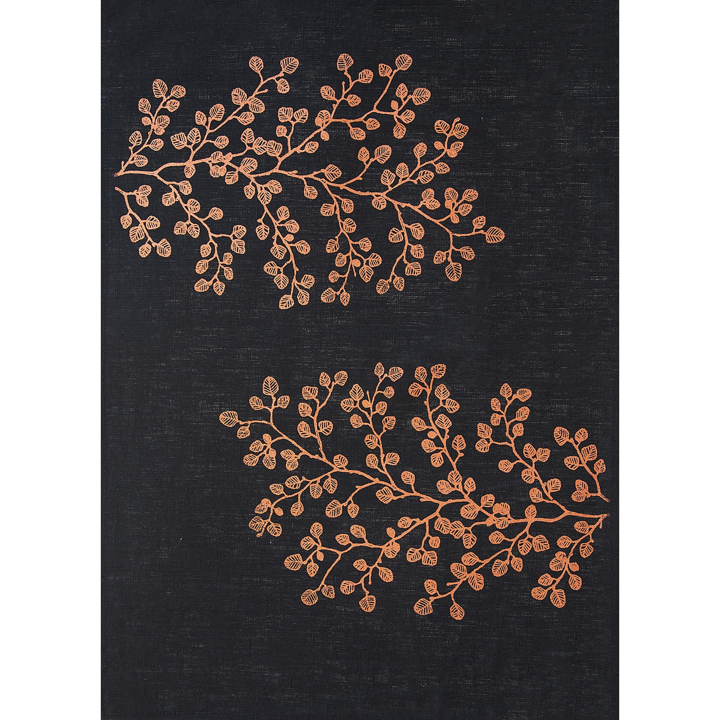 Stalley Textile Co. - Tea Towel - Fagus - Copper on Black
