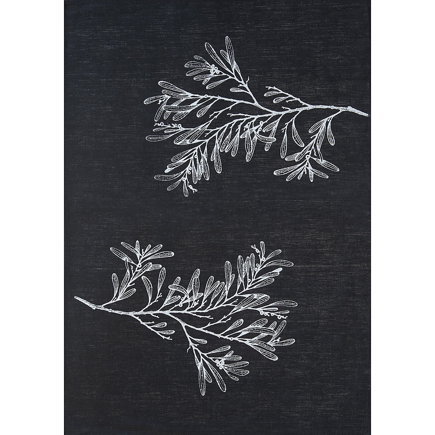 Stalley Textile Co. - Tea Towel - Blackwood - Silver on Black