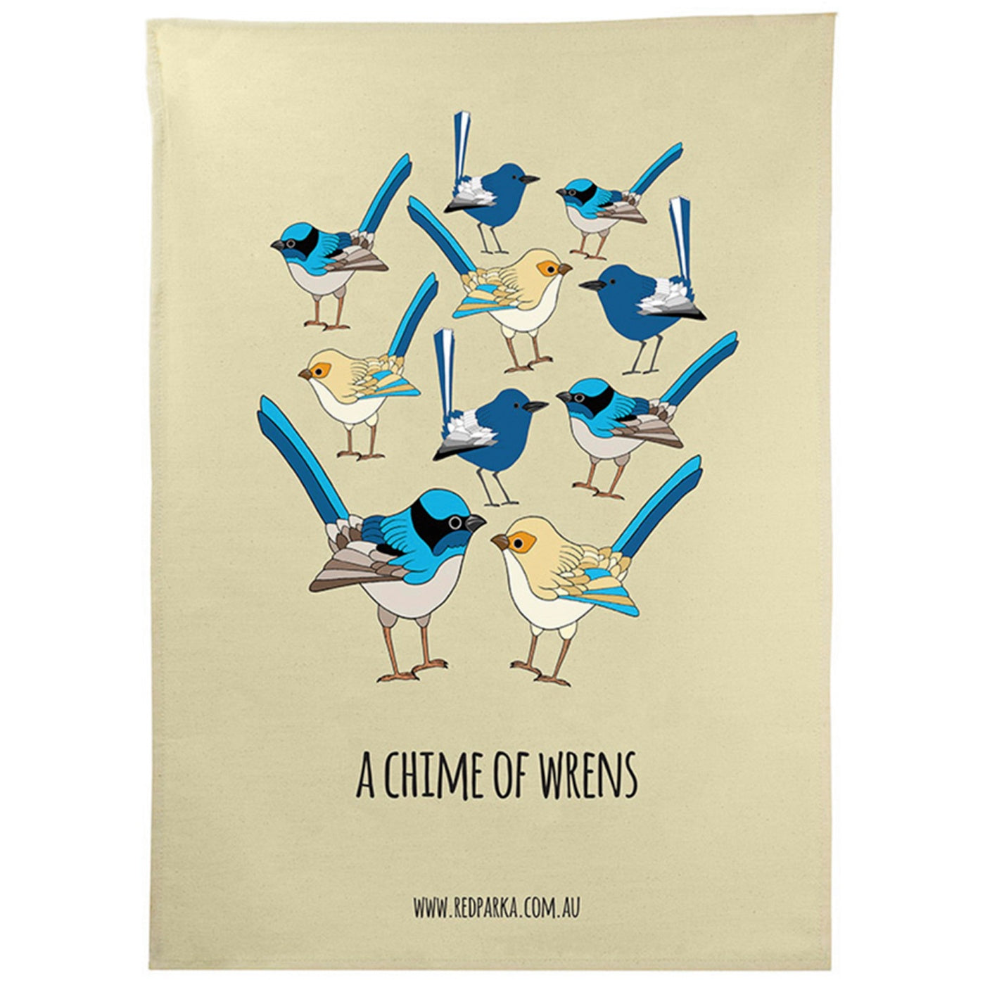 Red Parka - Tea Towel - Chime of Wrens