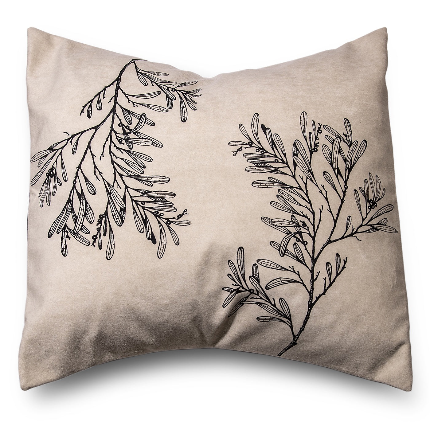 Stalley Textile Co. - Cushion Cover - Blackwood - Black on Cream