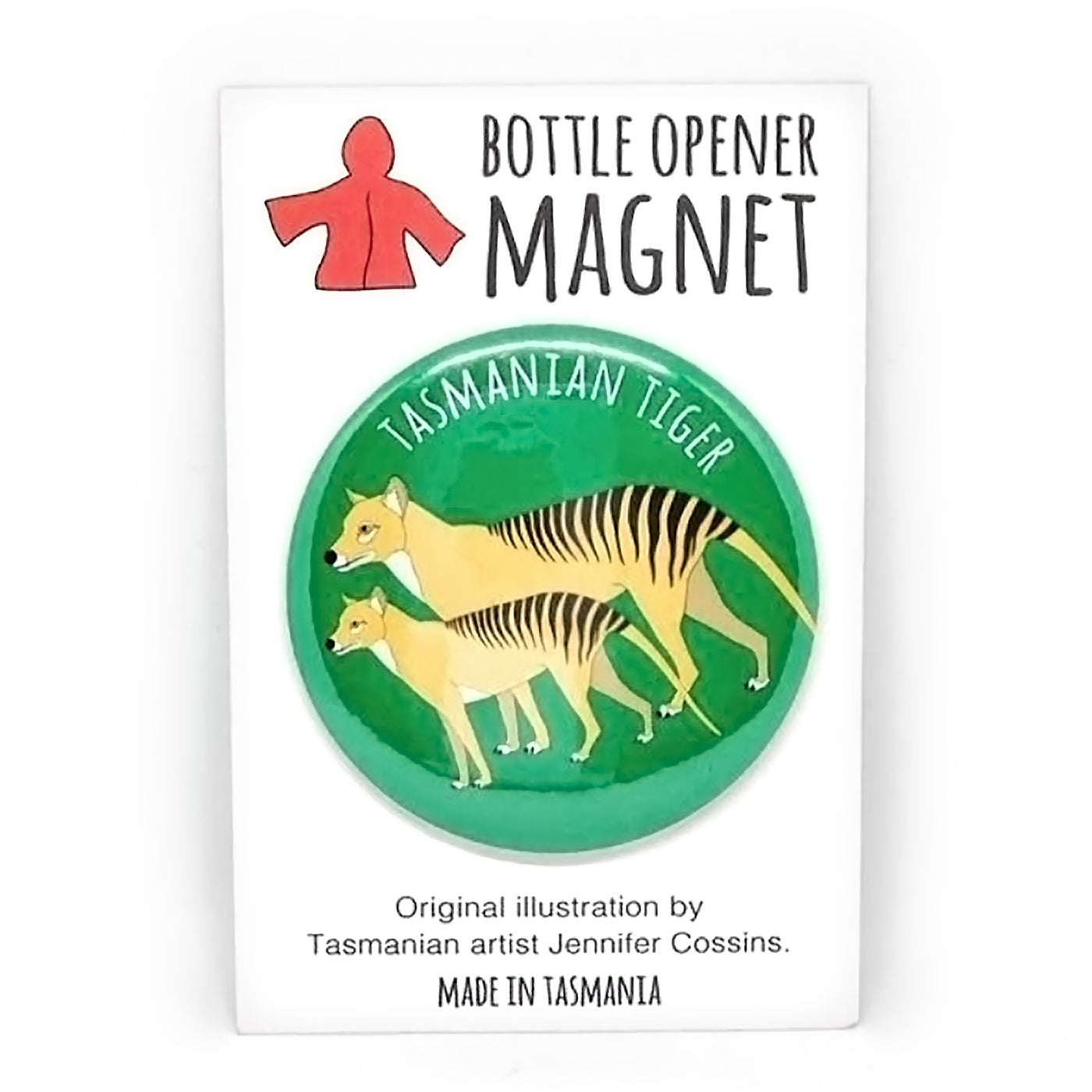Red Parka – Bottle Opener Magnet – Tasmanian Tiger
