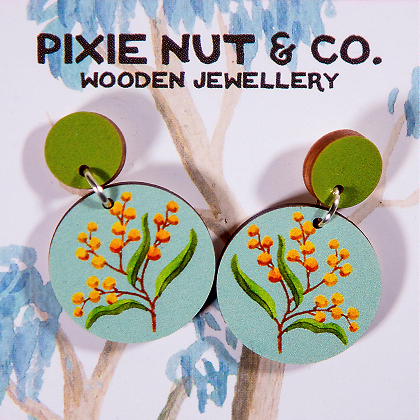 Pixie Nut & Co - Earrings - Wattle