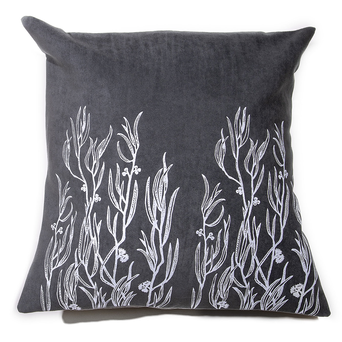 Stalley Textile Co. - Cushion Cover - Peppermint - White on Charcoal