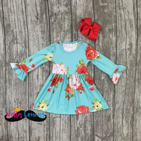 Beautiful 2Pc Vibrant Fall/winter Dress Set - 2T