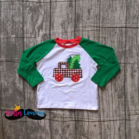 Boys Shopping For Christmas Trees Truck Tee