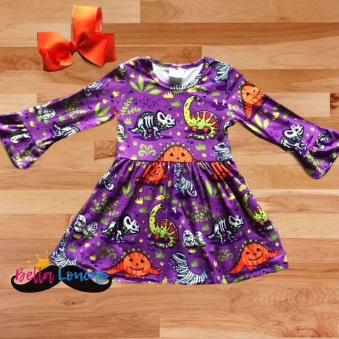 Halloween Dinosaur 2 Pc Dress Set - Dress