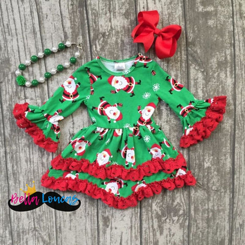 *hot Seller* Girls Christmas Santa Dress Set - 2T