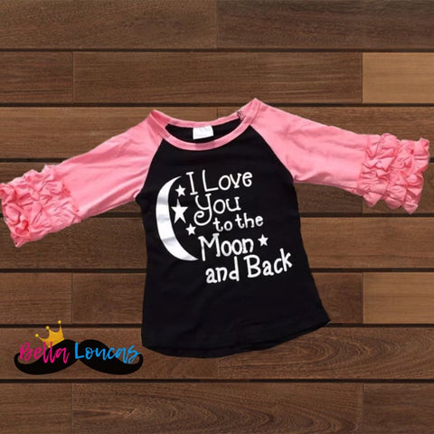 I Love You To The Moon & Back Icing Raglan - 18-24M
