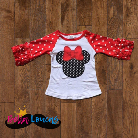 NEW!! Minnie Icing Raglan