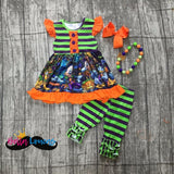 Mickey Striped Halloween Set - 2T