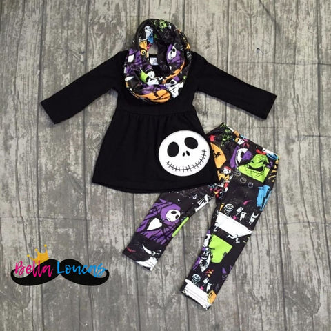 Nightmare Before Christmas Halloween Scarf Set - Scarf Set