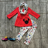 Red Minnie Scarf Set