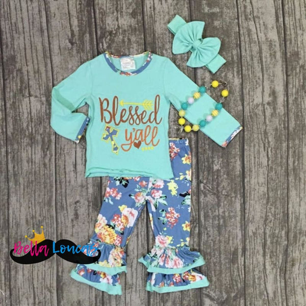 Southern Blessed Yall Set - 2T