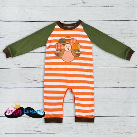 The Perfect Fall Turkey Boys Onesie