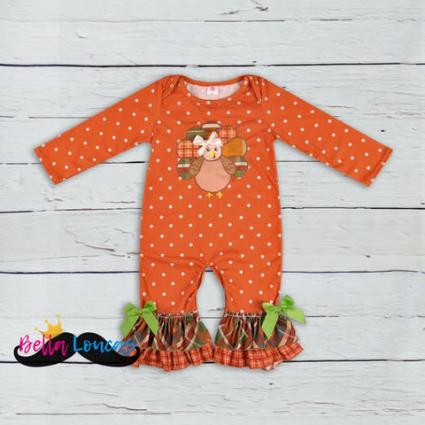 The Perfect Fall Turkey Romper - 0/3M (4Xs)