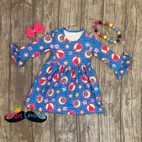 Trolls Casual Dress Set - 2T - Dress