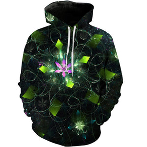 Fashion 3D Printed Hooded Sweatshirt