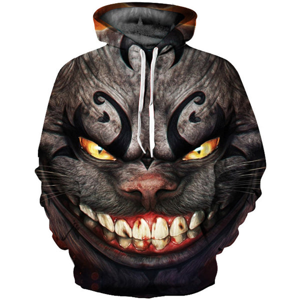 Cheshire Cat 3D Digital Print Hoodie