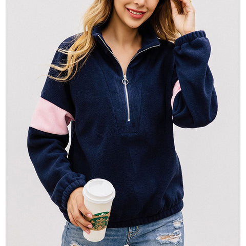 Fashion Zipper Long Sleeve Sweatshirt