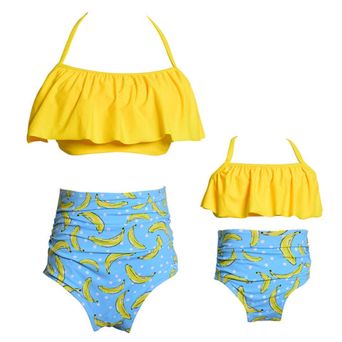 Parent-child Swimsuit High Waist Bikini