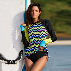 Sexy Long Sleeve Wetsuit and Surfing Swimsuit