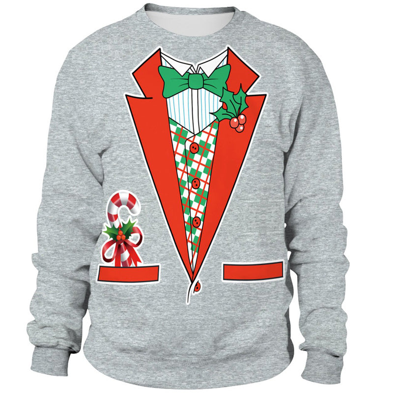 Fake Two Piece 3D Christmas Sweatshirt