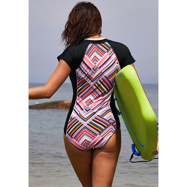 Sexy Short Sleeve Wetsuit and Surfing Swimsuit